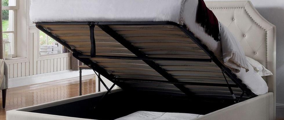 Queen-Size Upholstered Platform Bed