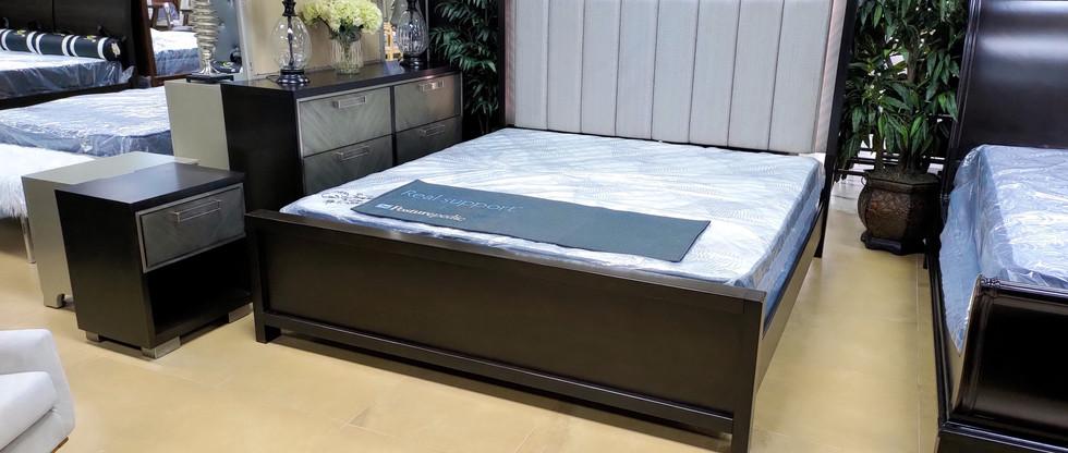 King Bedroom Group – LED Headboard!