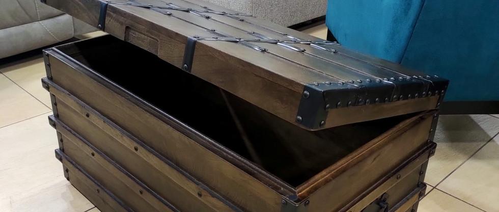 Vintage Style Wooden Storage Trunk