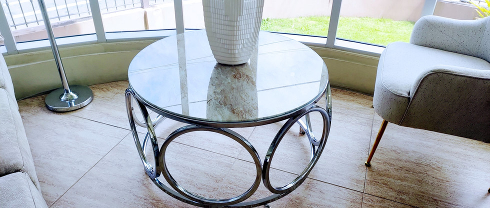 Modern Cocktail Table on Casters
