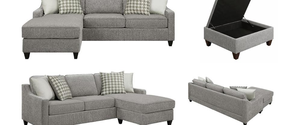 Sofa Chaise w/ Hidden Storage