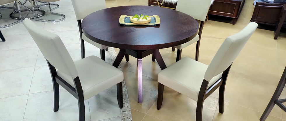 5-Piece Round Dining Set