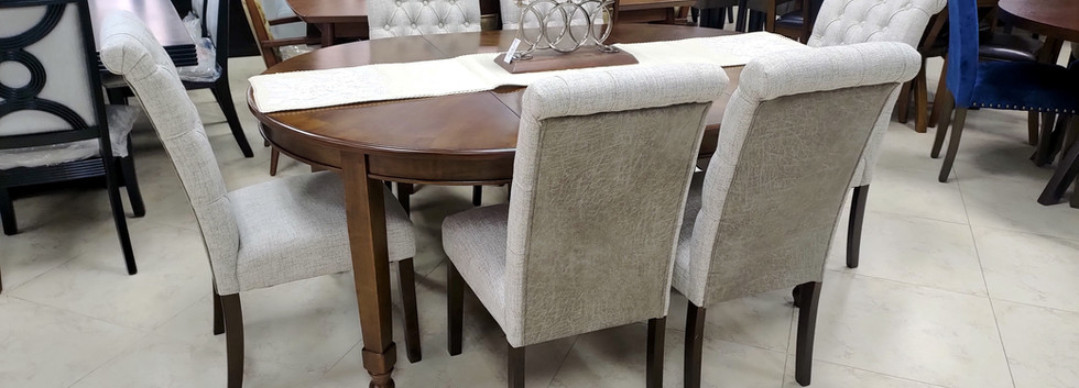 7-Piece Dining – Round/Oval Extension Table