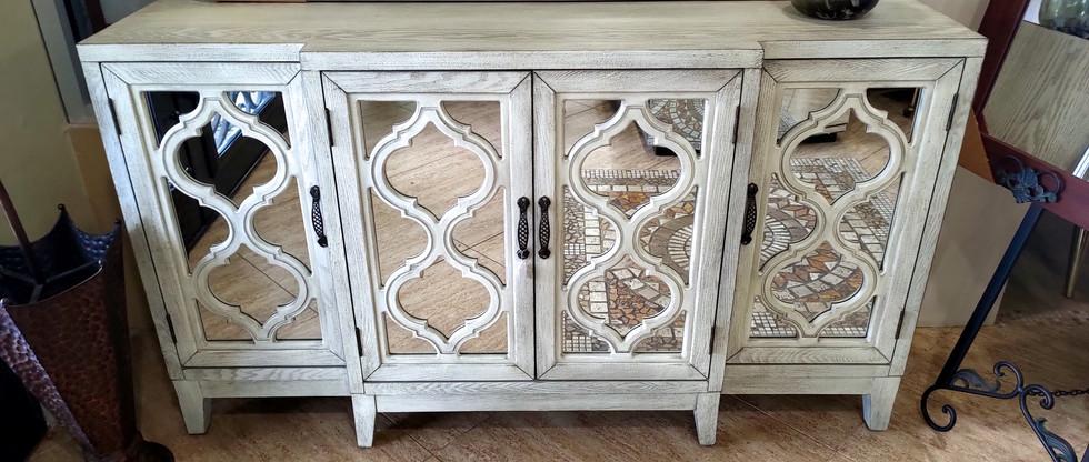Elegant 4-Door Accent Cabinet