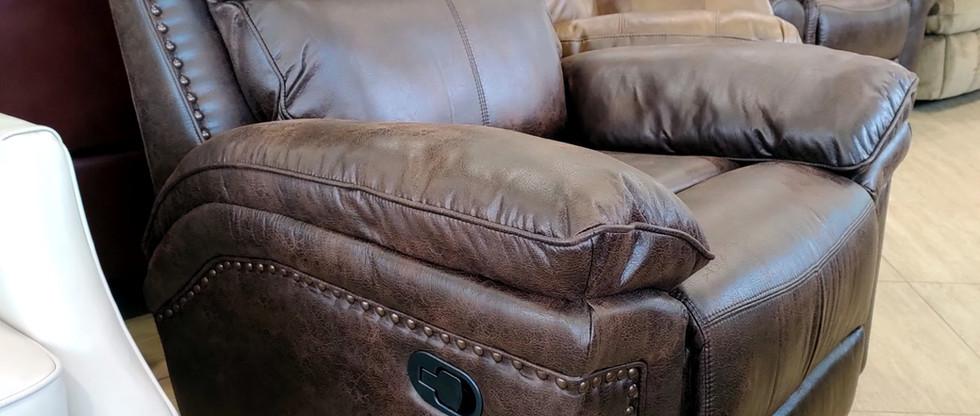 Leather-Look Rocker Recliner