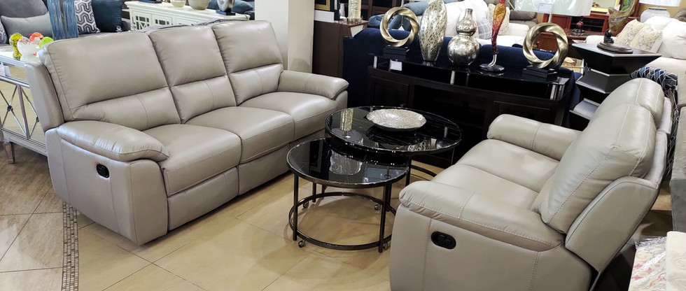 Leather Reclining Sofa & Loveseat