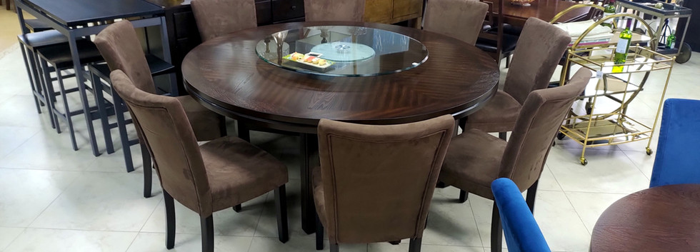 9-Piece Round Dining Set