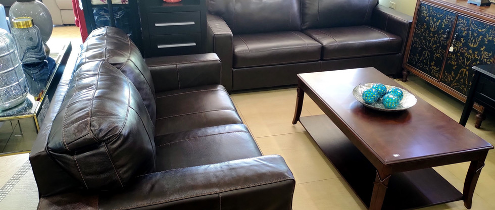 Leather Sofa & Loveseat
