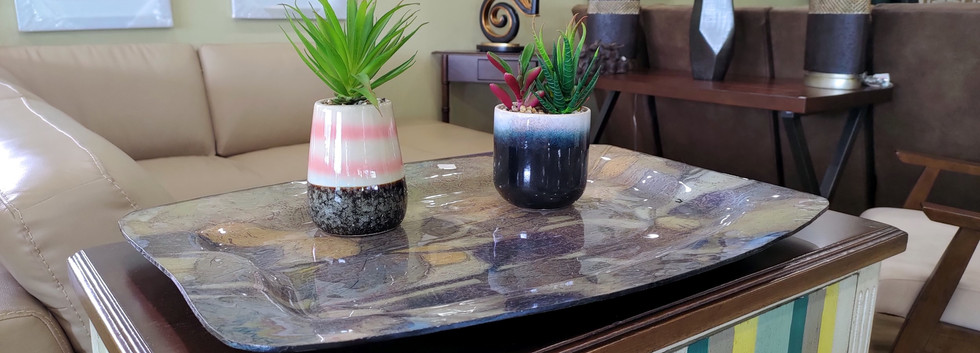 Artificial Succulent Plants in Ceramic Pots