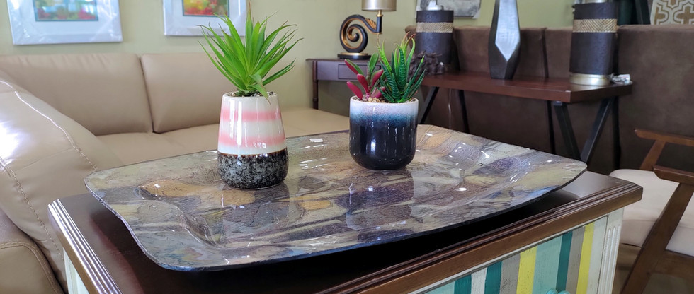 Artificial Succulent Plants in Ceramic Pots