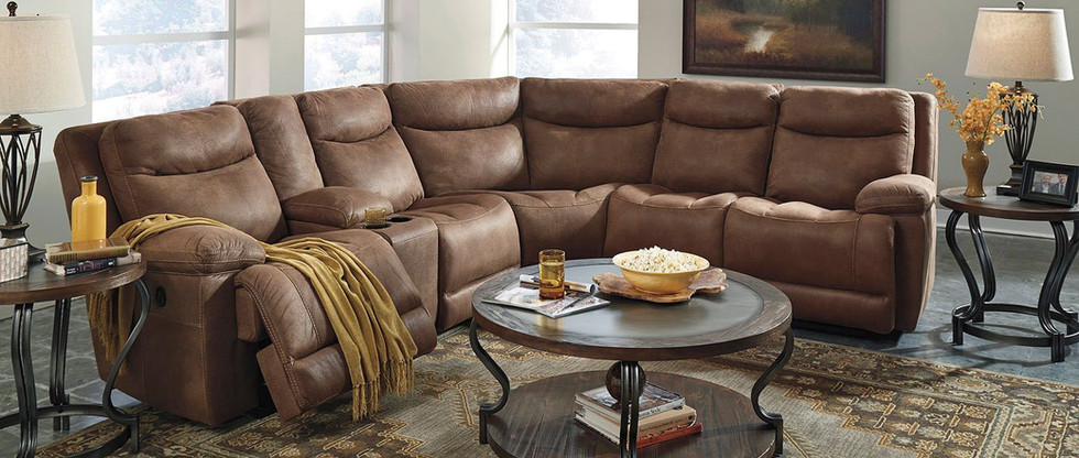 Reclining Sectional w/ Storage Console