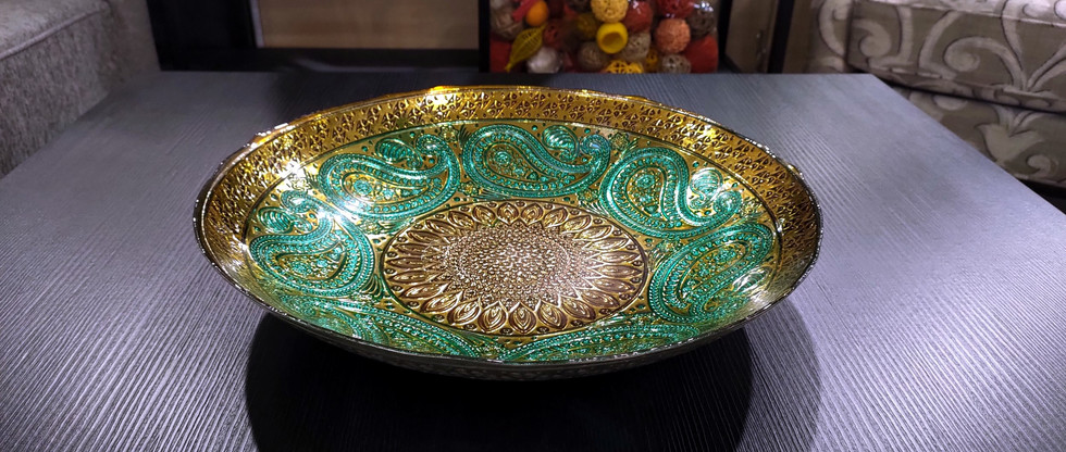 Paisley Pattern Glass Bowl