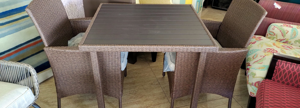 All-Weather 3-Piece Dining Table Set