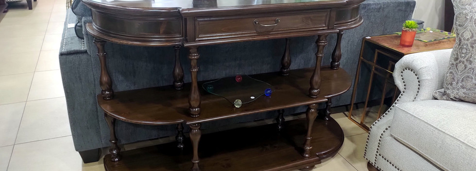 Shapely Wooden Console Table