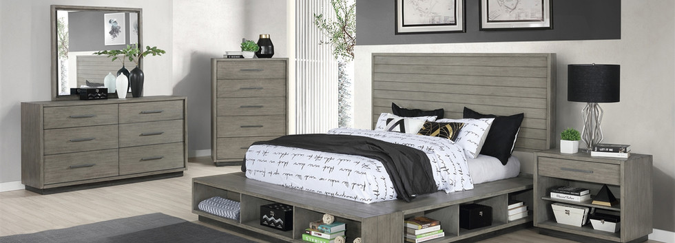 5-Piece Queen Storage Platform Bedroom Group