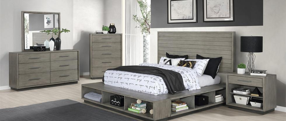 5-Piece Queen Storage Platform Bedroom Group