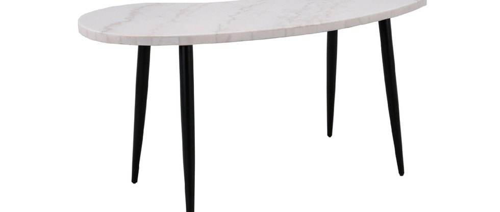 White Marble Top Writing Desk