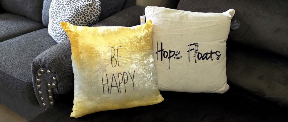 Throw Pillows with Messaging