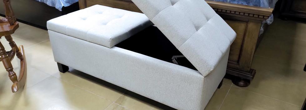 Dual Lift-Top Storage Bench