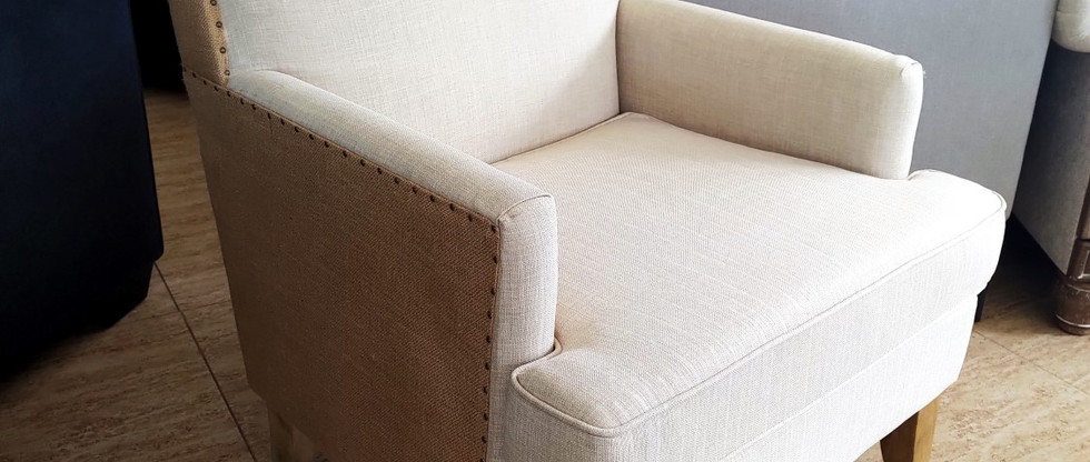 Multi-Fabric Accent Chair