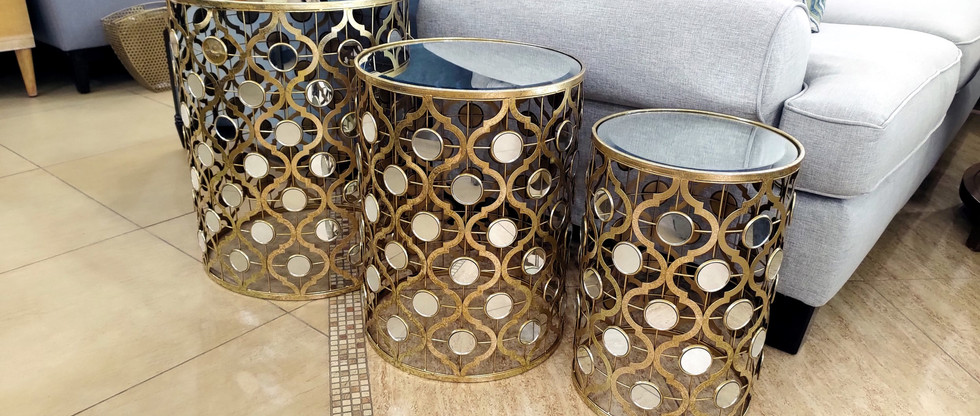 Glamorous Accent Tables – Set of 3