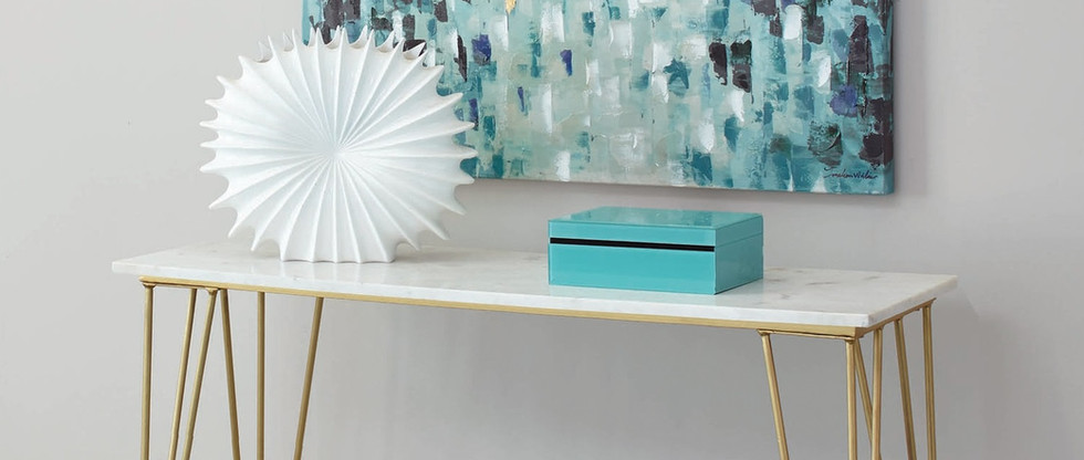 Marble Top Sofa Table