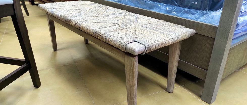 Abaca Weave Bench