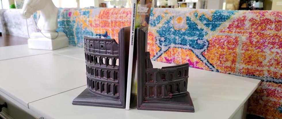 Roman Colosseum Bookends Set