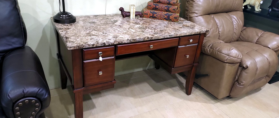 Home Office Desk – Marble Top