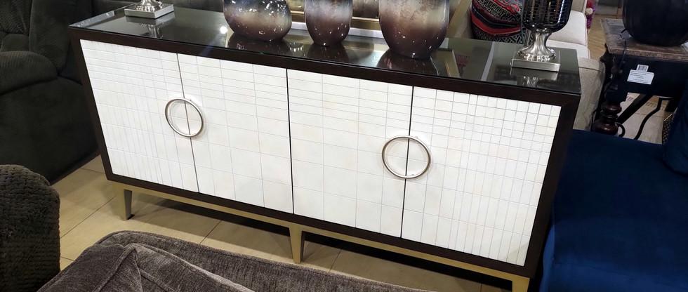 72.5″-Wide 4-Door Cabinet w/ Metal Door Pulls