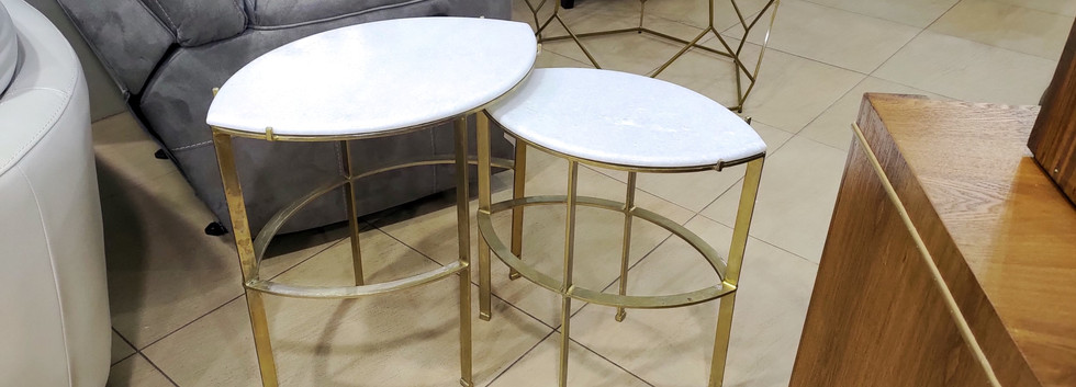 2-Piece Marble-Top Nesting Tables