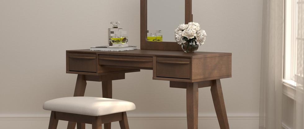 2-Piece Vanity Set w/ Mirror