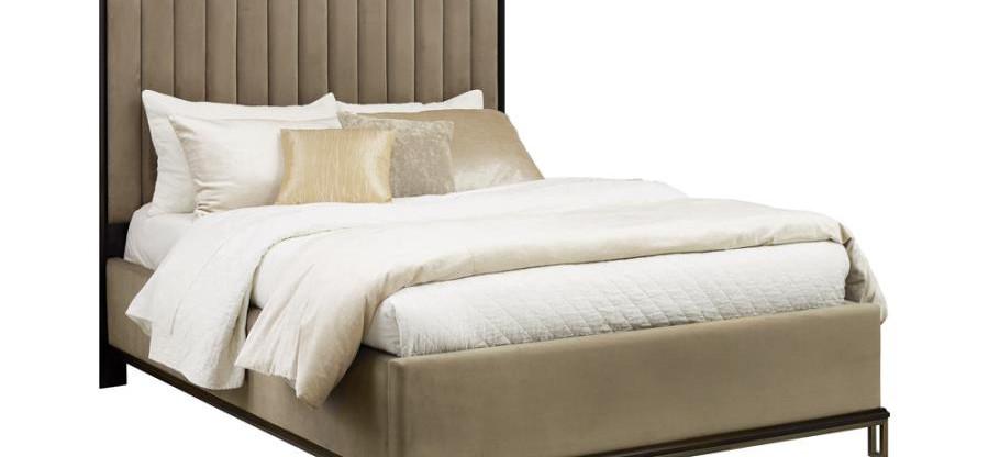 Art Deco Style – 5-Piece Queen Upholstered Bedroom Group