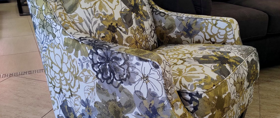 Floral-Patterned Accent Chair