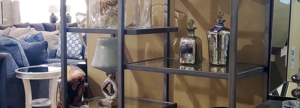 Unique-Looking Metal Display Shelf