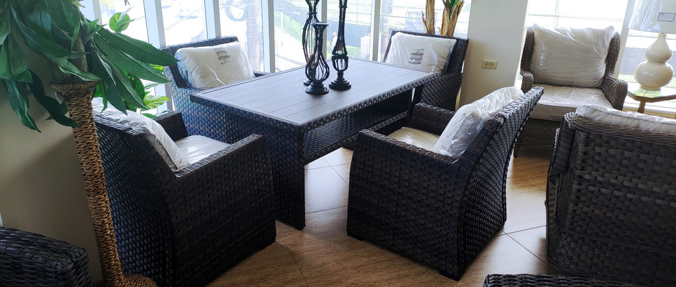 Outdoor Table + 4 Chairs Set