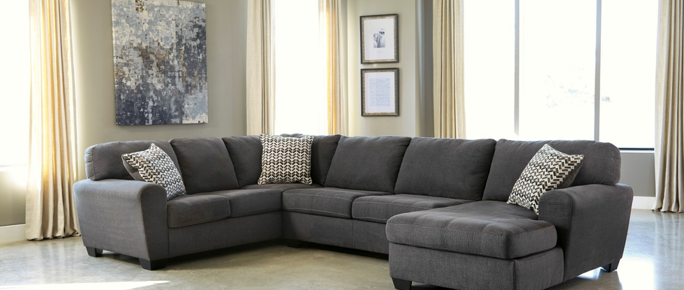 Contemporary Sectional – Chaise on Right