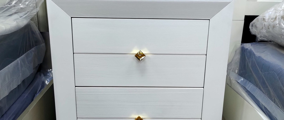 Solid Wood 2-Drawer Night Stand