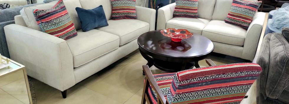 Sofa & Loveseat w/ Accent Chair