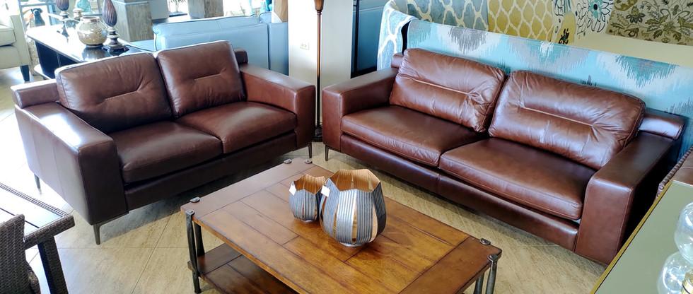 Quality Leather Sofa & Loveseat