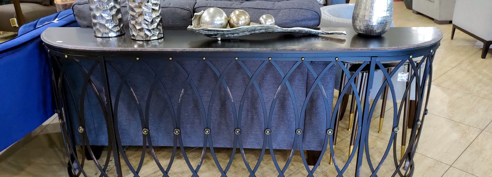 Wide Iron Console Table