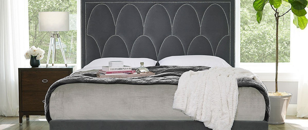 Art Deco Style – King-Size Upholstered Bed