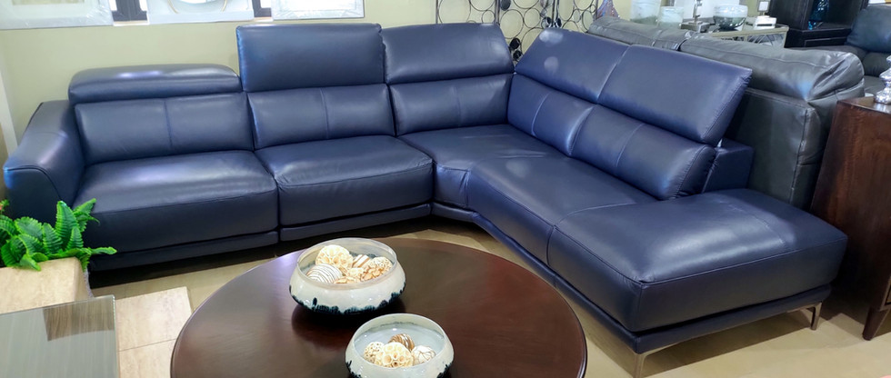 LEATHER Sectional Seating w/ POWER Recliner