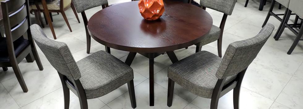 5-pc Round Dining Set