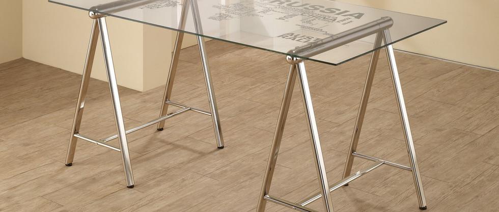 Glass Top Writing Desk
