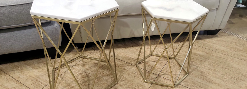 Marble Top Metal Accent Tables