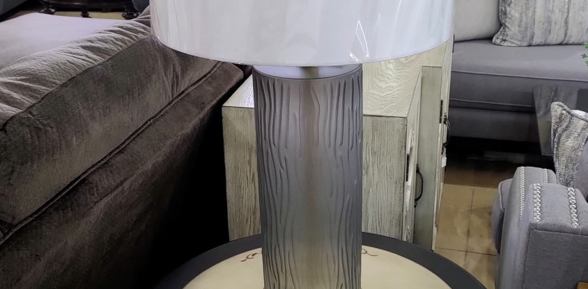 Cylindrical Glass Table Lamp