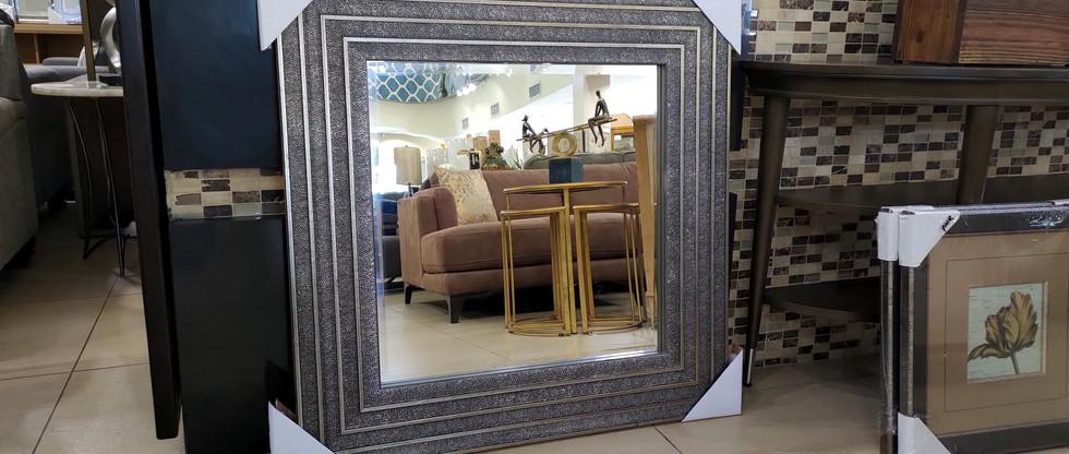 Square Framed Bevelled Mirror