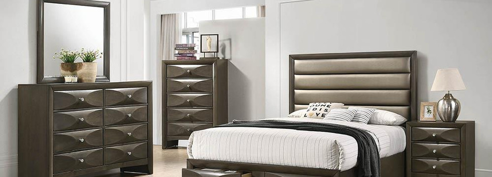 King-Size Platform Bed with Storage