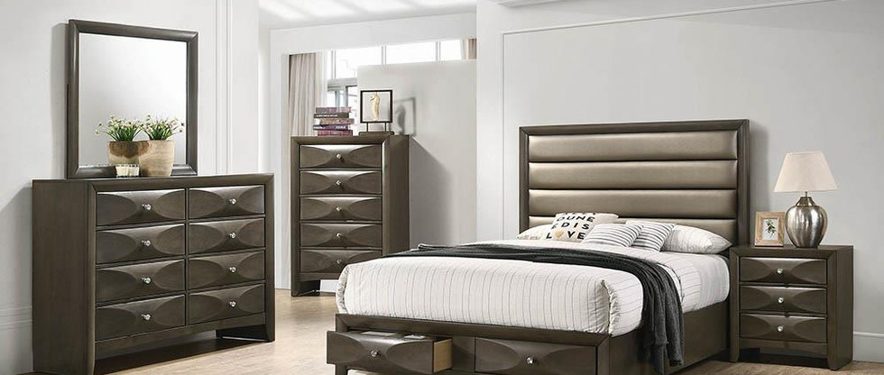 King-Size Platform Bed with Storage